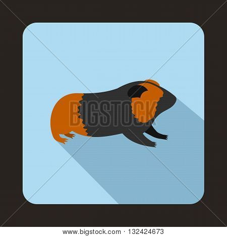 Hamster icon in flat style with long shadow. Animals symbol