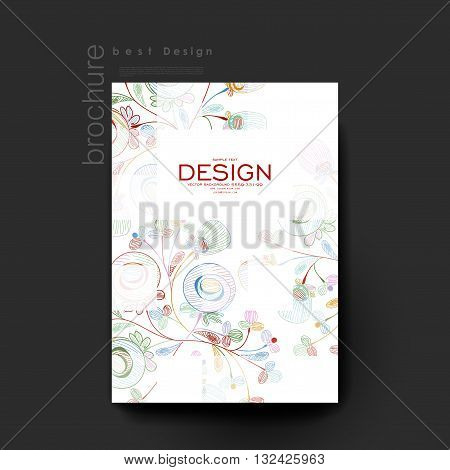 floral abstract vector brochure template. Flyer Layout. Creative modern design