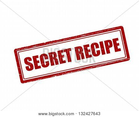 Rubber stamp with text secret recipe inside vector illustration