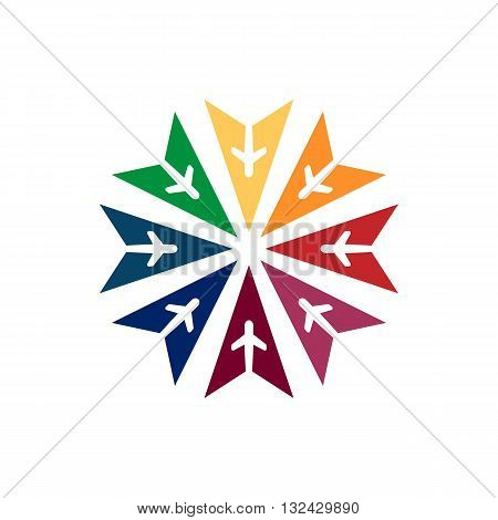 Logo Colorful Star Flit away Travel Plane