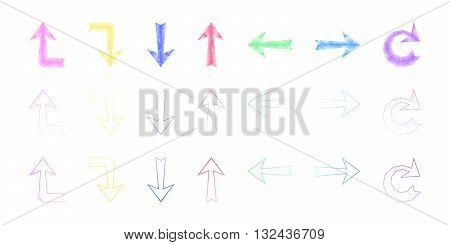 set of polygonal colored arrows arrow arrow up arrow vector arrow polygonal arrows set abstract arrow