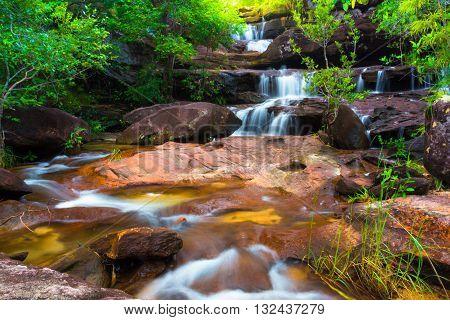 Huaypok waterfall at Phataem nationalpark in Ubonratchathani province, Thailand