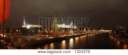 Panorama Of Kremlin From Bridge.
