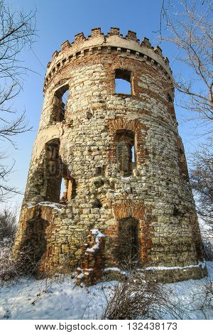 Image of the abandoned ruins of a former windmill Czech republic