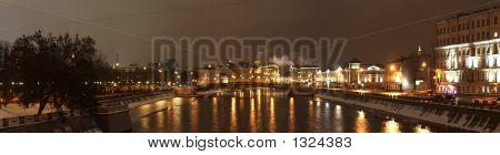 Panorama Of Moscow Center (Bolotnaja Quay)