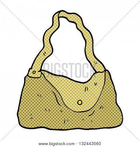freehand drawn cartoon handbag