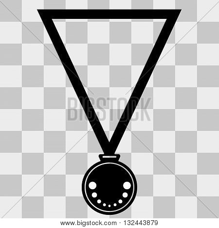 Medal Icon Vector. Medal Icon Simple. Medal Icon Black on transparent background