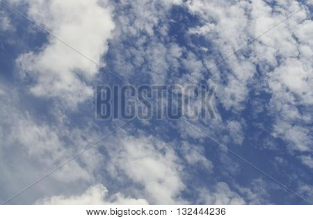 Soft focus, Sky and clouds White background with black natural light.
