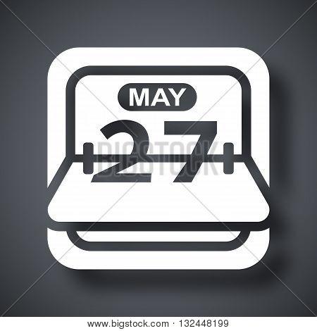 Vector Flip Calendar icon. Flip Calendar simple icon on a dark gray background