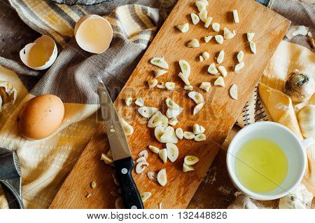 Preparing Buns Bread. Rustic Style. Ingredients For Homemade Br