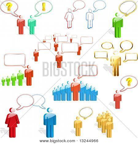 Speech business concept. Vector illustration.
