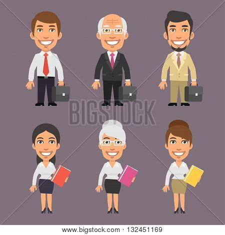 Vector Illustration, Businessman and Business Woman, format EPS 8