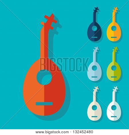 It is a illustration Flat design: lute