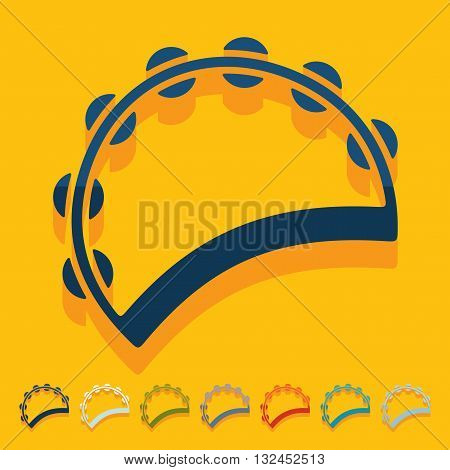 It is a illustration Flat design: tambourine