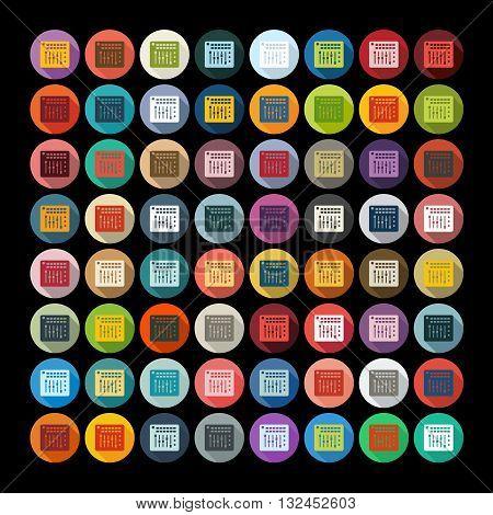 It is a illustration Flat design: mixer controller