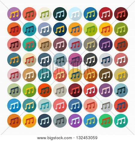 It is a illustration Flat design: musical note