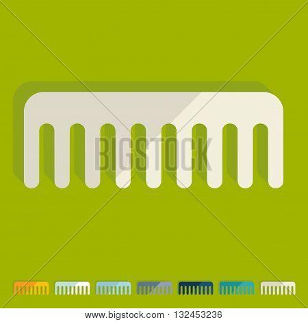 It is a illustration Flat design: comb