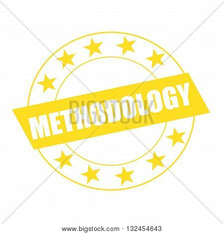 METHODOLOGY white wording on yellow Rectangle and Circle yellow stars