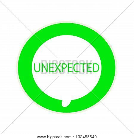 Unexpected green wording on Circular white speech bubble