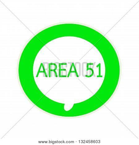Area 51 green wording on Circular white speech bubble