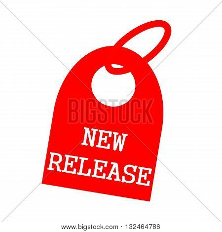 New release white wording on background red key chain