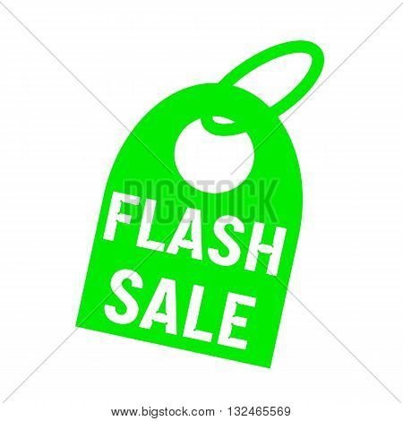 flash sale white wording on background red key chain