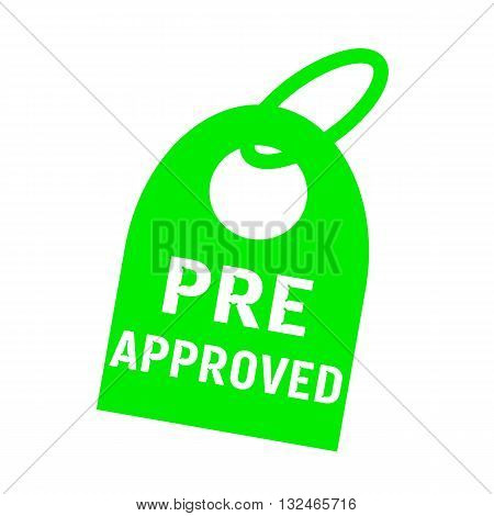 pre approved white wording on background green key chain