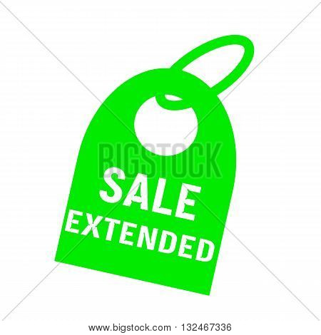 sale extended white wording on background red key chain
