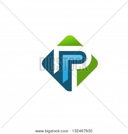 elegant strong corporate letter P logo concept