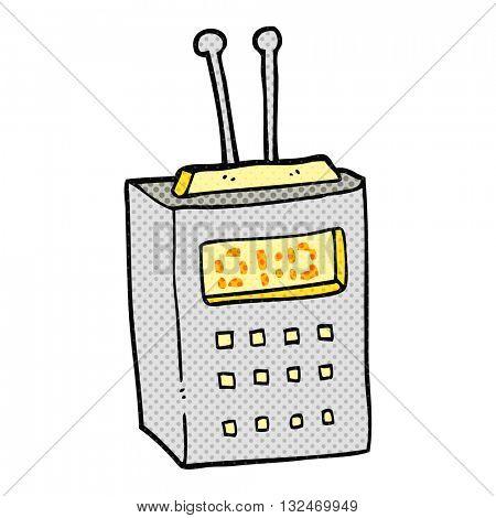 freehand drawn cartoon scientific device