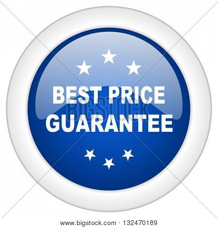 best price guarantee icon, circle blue glossy internet button, web and mobile app illustration