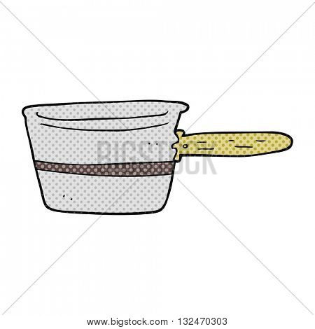 freehand drawn cartoon saucepan