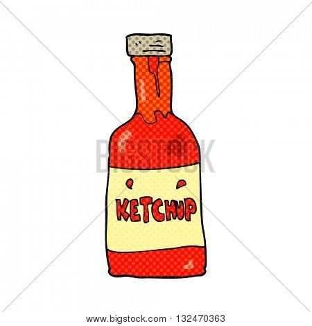 freehand drawn cartoon ketchup