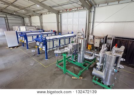 Industrial Engine In The Production Hall