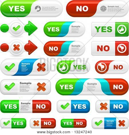Yes and No icon. Great collection.