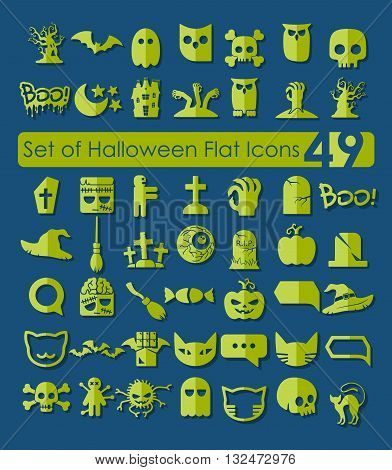 It is a illustration Set of halloween icons