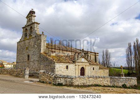 Valley Church in Barruelos Barruelos del Valle province of Valladolid. Spain