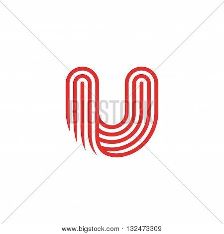 Creative Letter U Logo design vector template Linear