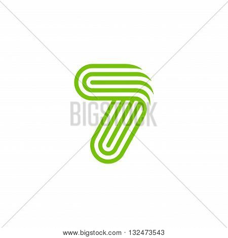 Creative Number seven 7 Logo design vector template Linear