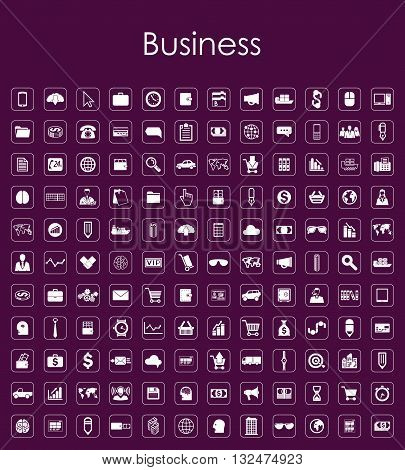 It is a illustration Set of business simple icons