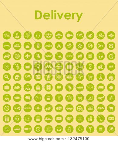 It is a illustration Set of delivery simple icons
