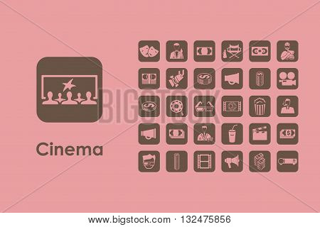 It is a set of cinema simple web icons