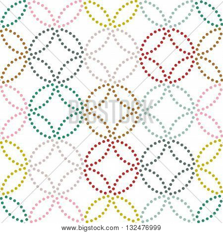 Dot texture. Seamless pattern. Abstract backdrop. Based on traditional asian ornament. Variation of Japanese motif. For decoration or printing on fabric. Pattern fills.