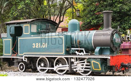 KUALA LUMPUR, MALAYSIA - JANUARY 30, 2013: Old steam locomotive at the National Museum