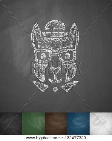 hipster squirrel icon. Hand drawn vector illustration. Chalkboard Design
