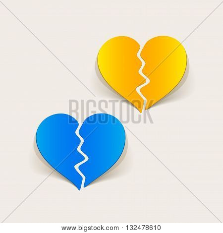 It is a illustration realistic design element: broken heart