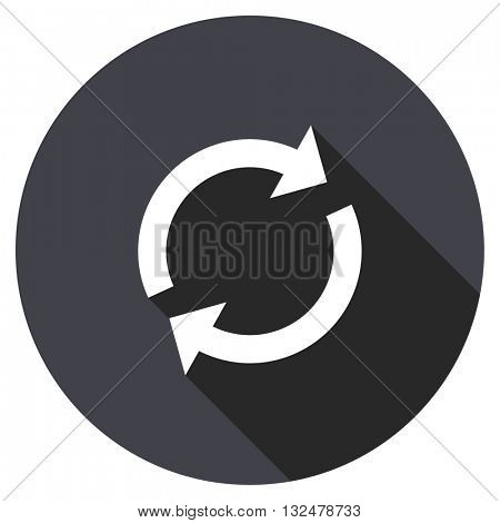reload vector icon, round flat design button, web and mobile app illustration