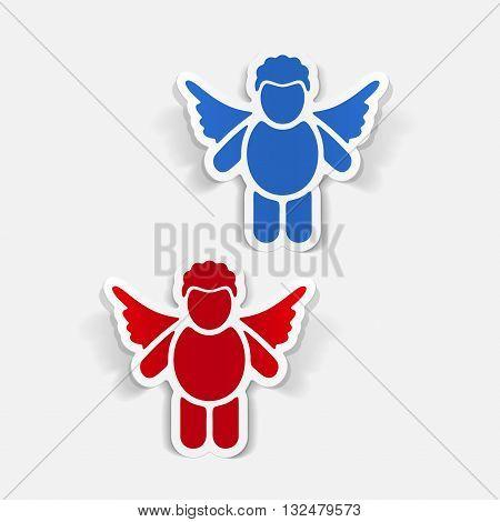 It is a illustration realistic design element: angel