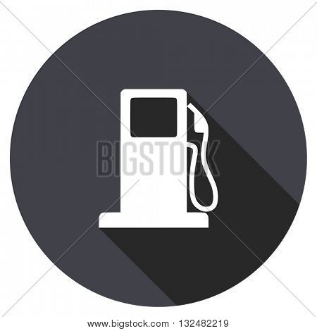 petrol vector icon, circle flat design internet button, web and mobile app illustration