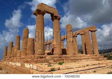 Ancient greek temple at Agrigento, Sicily
